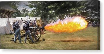 Boom Canvas Print by Wes Iversen