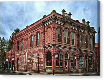 Boomtown Saloon Jacksonville Oregon Canvas Print by Thom Zehrfeld