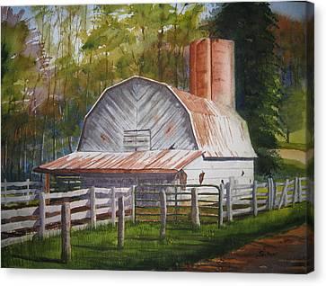 Boone Barn Canvas Print by Shirley Braithwaite Hunt