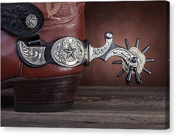 Boot Heel With Texas Spur Canvas Print by Tom Mc Nemar