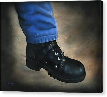 Boot Canvas Print by Luis  Navarro