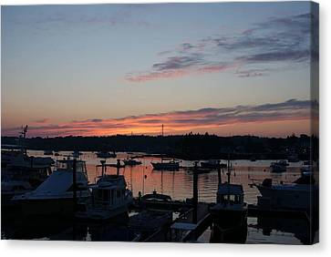 Boothbay Sunset Canvas Print by Lois Lepisto