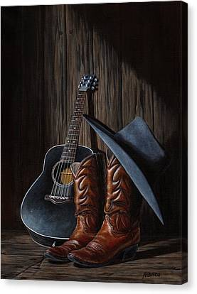 Boots Canvas Print by Antonio F Branco