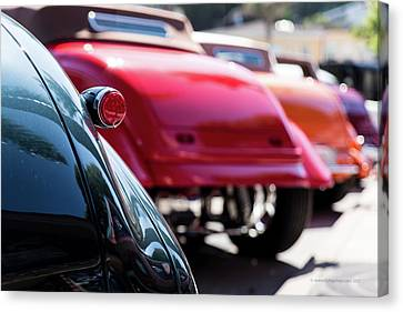 Canvas Print featuring the photograph Boots Of Colorful Cars by Lora Lee Chapman