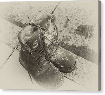 Boots Reno Canvas Print by Ann Tracy
