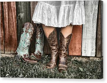 Boots X 2 Canvas Print