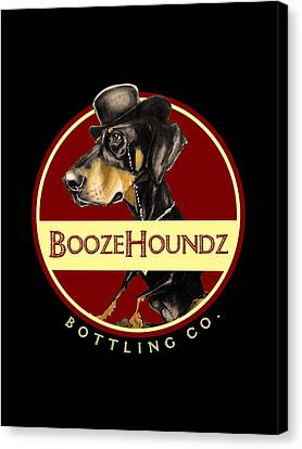 Caricature Canvas Print - Boozehoundz Bottling Co. by John LaFree