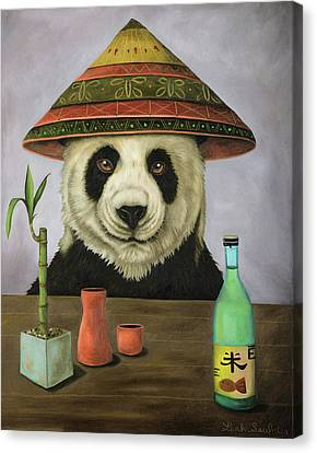Canvas Print featuring the painting Boozer 4 by Leah Saulnier The Painting Maniac