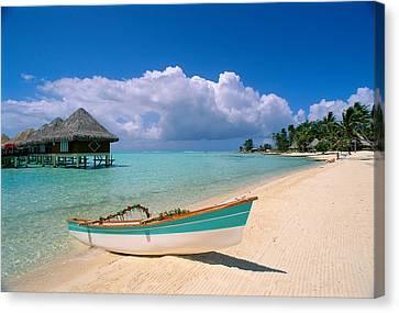 Bora Bora, Hotel Moana Canvas Print