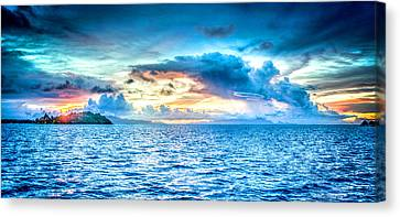 Bora Bora Sunset Canvas Print by Design Turnpike
