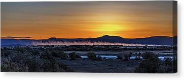 Canvas Print featuring the photograph Borax Lake At Sunrise by Cat Connor