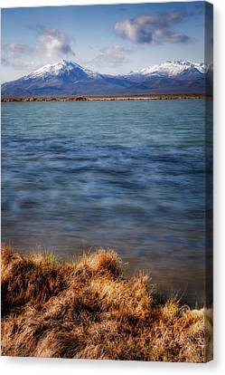 Canvas Print featuring the photograph Borax Lake by Cat Connor