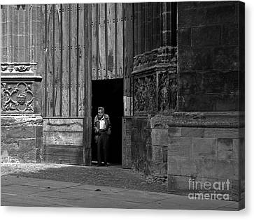 Bordeaux Church Door Canvas Print