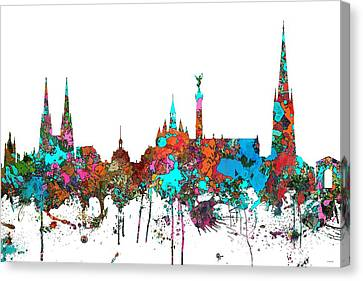 Bordeaux France  Skyline  Canvas Print by Marlene Watson