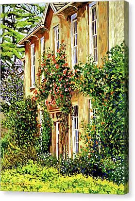 South Of France Canvas Print - Bordeaux Garden House by David Lloyd Glover