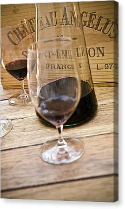 Cellar Canvas Print - Bordeaux Wine Tasting by Frank Tschakert