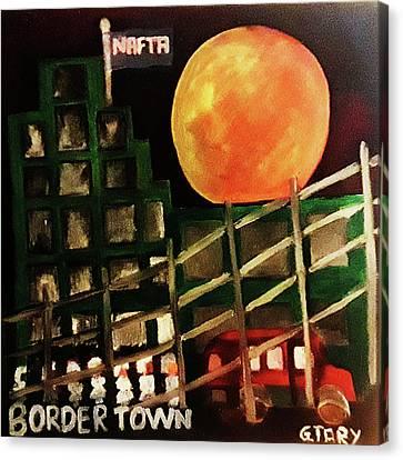 Border Town Canvas Print