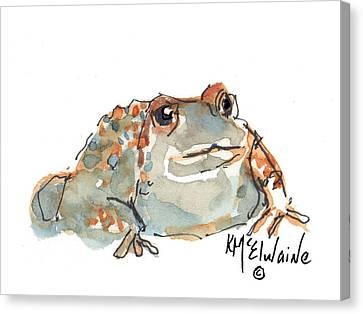Boreal Chorus Frog Canvas Print by Kathleen McElwaine