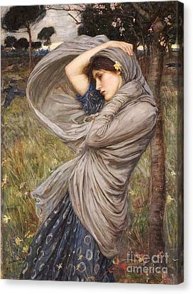 Wind Canvas Print - Boreas by John William Waterhouse