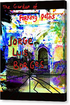 Borges Poster Garden Of Forking Paths Canvas Print