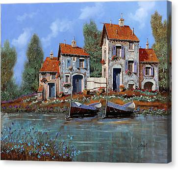 Riverscape Canvas Print - Borgo Viola by Guido Borelli