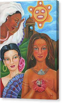 Borinquen Roots Canvas Print by Janice Aponte