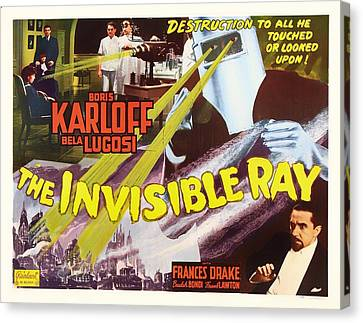 Boris Karloff And Bela Lugosi In The Invisible Ray 1936 Canvas Print