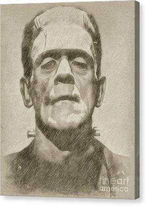 Boris Karloff As Frankenstein Canvas Print by Frank Falcon
