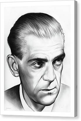 Boris Karloff Canvas Print by Greg Joens