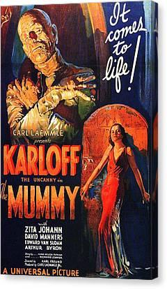 Boris Karloff In The Mummy 1932 Canvas Print
