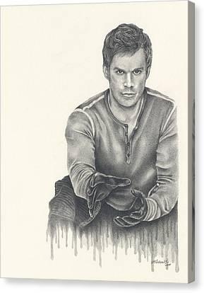 Dexter Morgan Canvas Print - Born From Blood by Heather Andrewski