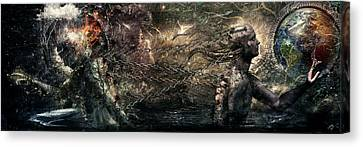 Born Of Osiris Soul Sphere Canvas Print by Cameron Gray
