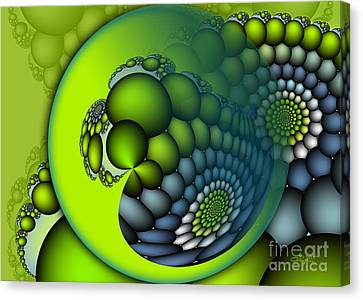 Repetition Canvas Print - Born To Be Green by Jutta Maria Pusl