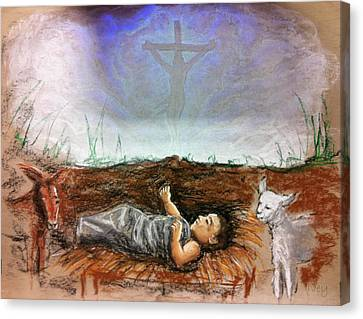 Canvas Print featuring the painting Born To Die by Mike Ivey