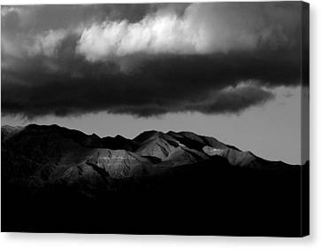 Borrego Clouds Canvas Print by Peter Tellone