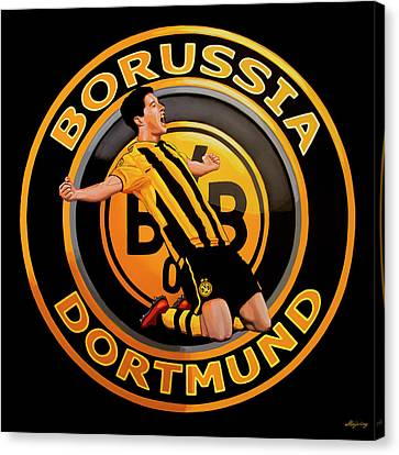 Borussia Dortmund Painting Canvas Print by Paul Meijering