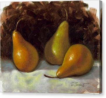 Bosc Pears Canvas Print