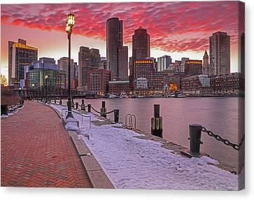Boston Ablaze Canvas Print by Juergen Roth