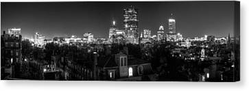 Boston After Dark Canvas Print by Andrew Kubica