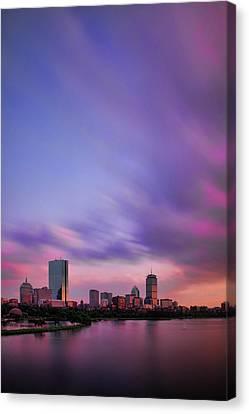 Charles River Canvas Print - Boston Afterglow by Rick Berk