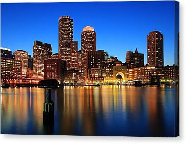 Boston Aglow Canvas Print by Rick Berk