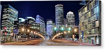Boston Alight Canvas Print by Frozen in Time Fine Art Photography