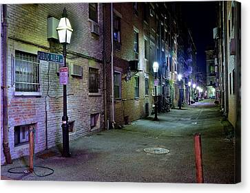 Boston Alleyway Canvas Print by Frozen in Time Fine Art Photography