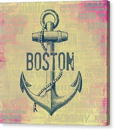 Boston Anchor Center Canvas Print by Brandi Fitzgerald