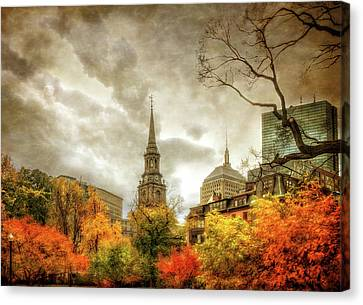Boston Autumn Splendor Canvas Print