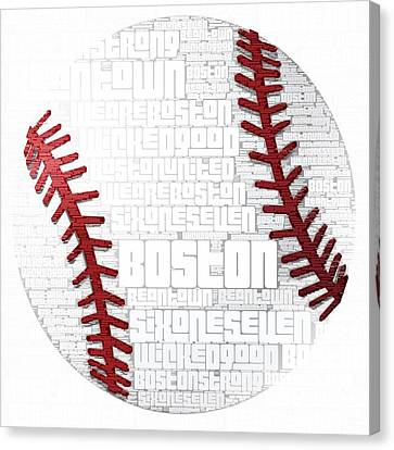 Boston Baseball Canvas Print by Brandi Fitzgerald