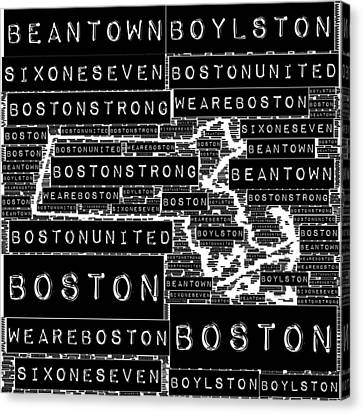Boston Black And White Canvas Print by Brandi Fitzgerald