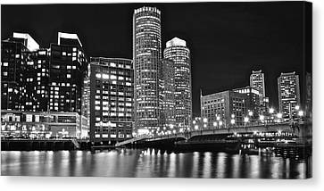 Boston Black And White Canvas Print by Frozen in Time Fine Art Photography