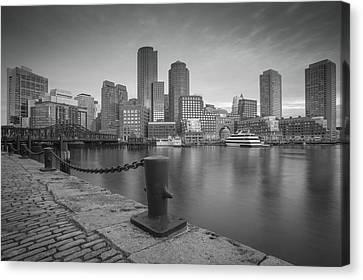 Boston Black And White Canvas Print