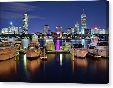Boston Boats Canvas Print by Frozen in Time Fine Art Photography